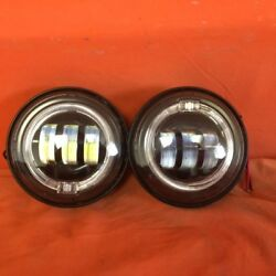4.5 Auxiliary Daymaker Black Spot With Halo Passing Hid Led Fog Lights Bulb