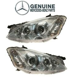 Genuine Pair Set Of Front Left And Right Headlights For Mercedes W221 S550 S600