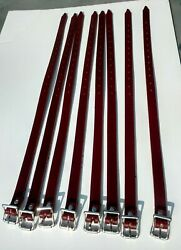 New Leather Ski Straps For Porsche 356 Leitz And Reutter Trunk Luggage Rack 8