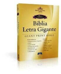 Giant Print Bible-rvr 1960-50th Anniversary Spanish Bonded Leather Book Free S