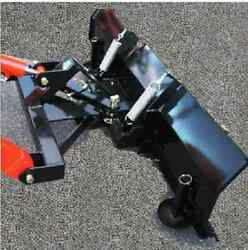 New Hydraulic 5and039 Snow Plow Blade Subcompact Tractor Mahindra Emax Loader Hst 60