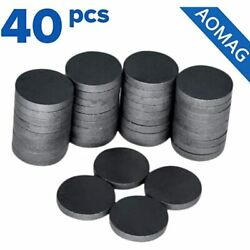 Ceramic Industrial Magnets - Bulk Lot Of 40 Pcs Refrigerator Tiny Round Disc For