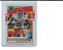 2020 Donruss Clyde Edwards-helaire Rc Optic Preview Holo Silver Prizm Chiefs