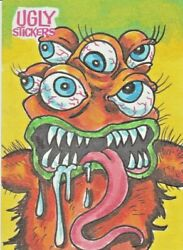 2020 Ugly Stickers Sketch Card Dan Chad Scheres Like Wacky Packages Gpk Artists