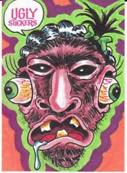 2020 Ugly Stickers Sketch Card Dan Keith Scheres Like Wacky Packages Gpk Artists