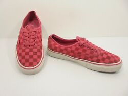 Cute Womens Pink amp; Red VANS CHECKERBOARD Lace Up Sneakers Shoe Size US 9.5 $29.99