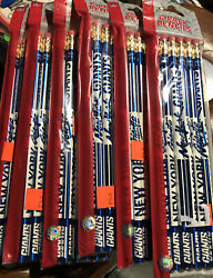 Lot Of 6 Brand New Nfl New York Giants 6-pack Of Pencils In Packs