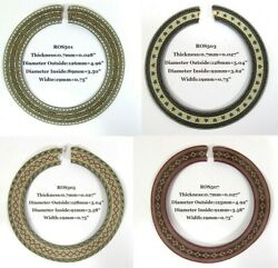 Classical Guitar Wood Inlay Rosette 4 Pieces In A Set Ros501 503 505 507