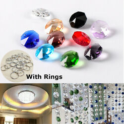 Chandelier Light Color Crystal Glass Beads Droplets Lamp Kit W/ Ring Ceiling Dec