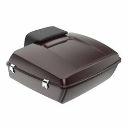 Advan Black Cherry Chopped Tour Pack Trunk Luggage Fits Harley Touring 1997-2020