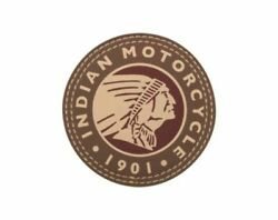 Indian Motorcycle Circle Icon Headdress Leather Patch - P/n 2863987