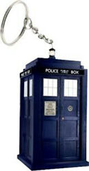 New Zeon Dr123 Dr Doctor Who Tardis Light-up Led Keyring Torch Key Ring Keychain