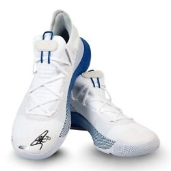 Stephen Curry Signed Autographed Under Armour Shoes White/blue Warriors Uda