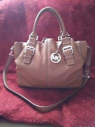 MICHAEL KORS Brown Leather Satchel Purse $158.00