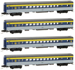 Micro-trains Mtl Z-scale Passenger Coach Baltimore And Ohio/bando - Runner 4-pack