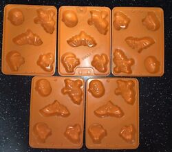 5 Jello Jiggler Halloween Molds For Jello Shots, Jello, Candy, Candles Other