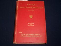 1937-1938 Baily's Hunting Directory With Diary And Hunt Maps - Ads - Kd 5602