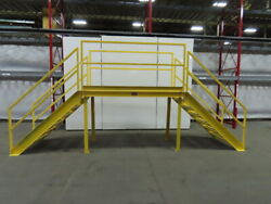 Steel Crossover Stairway Platform Catwalk Bridge Clearance 80 Wide 50 Height