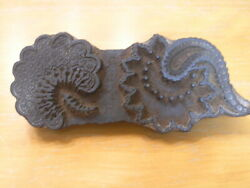 Large Asian Indian Hand Carved Wooden Hand Printing Block Palampore Paisley Flor