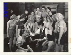 Clark Gable Surrounded By Women Signs Autograph Dancing Lady Vintage Photo