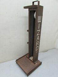 Vintage Gas Oil Station Wizard Western Auto Car Parts Counter Display Rusty Gold