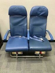Authentic 747-400 Aircraft Row Of 2 Airline Economy Seats