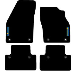 Volvo C30 2006 To 2012 Manual Tailored Carpet Car Floor Mats With Logo 8 Clips