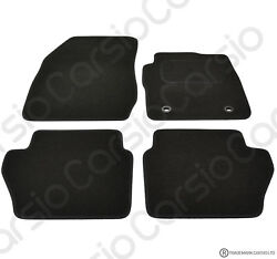 Ford Fiesta 09 To 2012 Mk7 Tailored Black Car Floor Mats Carpets 4pc Oval Clips