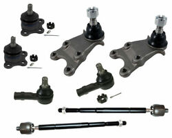 Lower Upper Ball Joints Tie Rods For Isuzu Axiom 3.5l Rodeo 3.2l New Steering