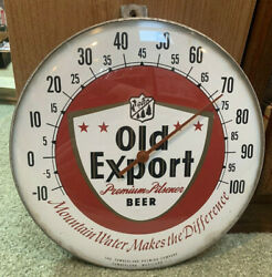 1950's Old Ecport Beer Thermometer Sign 10 Glass Bubble Cumberland Brewing M.d.