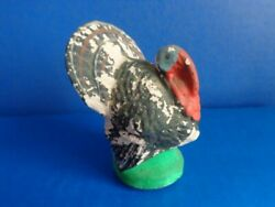 Vintage Thanksgiving Turkey Candy Container- Removable Bottom Plug