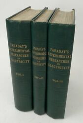 Michael Faraday / Experimental Researches In Electricity .. In Three Volumes