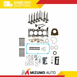 Full Gasket Set Intake Exhaust Valves Fit 11-12 Fusion Lincoln Mkz Mercury 2.5l