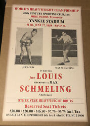 "Joe Louis and Max Schmeling 23x14"" Promo Reproduction Poster 1938 $24.98"