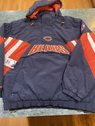 Nwt Mitchell Ness Chicago Bears Pullover/ Jacket Coat Size Xl