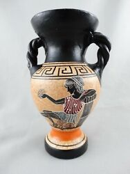 Vintage Greek Hand Painted Vase - Made In Greece - No. 15 - 3 X 7.5 In.