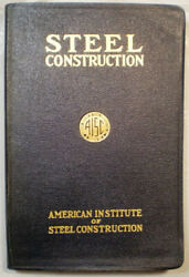 Aisc Manual Of Steel Construction 2nd Edition 1st Print 1934 Rare Depression Era