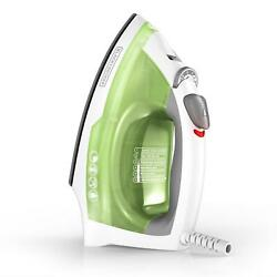 Compact Easy Steam Iron Anti Drip Nonstick Surface Ergonomic Handle Clothes