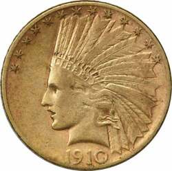 1910-s 10 Gold Indian Ef Uncertified