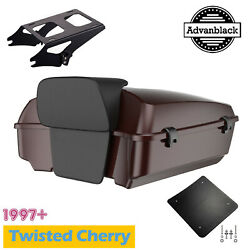 Twisted Cherry Chopped Tour Pack Mount Rack For 97+ Harley Flhr Flhxs Fltrx
