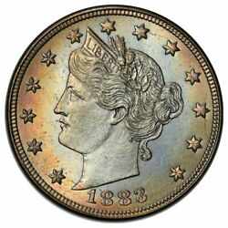 1883 5c Nickel Liberty Head With Cents Pcgs Ms67