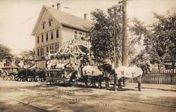 Norwich, Ct, Town's 250th Anniv Event In 1909, K Of P Parade Float, Quimby Rppc