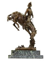 The Outlaw - Limited Bronze Horse Statue - Frederic Remington Signed - Sculpture
