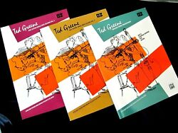 Ted Greene 3 Books Jazz Guitar Soloing Vol 1 And Vol 2 + Modern Chord Progressions