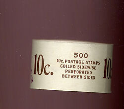 Scott 847 John Tyler Complete Prexy Coil Roll Of 500 Stamps Stock 847-1
