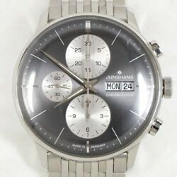 Junghans Watch Meister Chronoscope 027/4525 Menand039s Automatic Winding Genuine