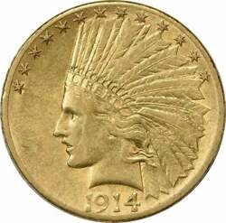 1914-s 10 Gold Indian Au Uncertified