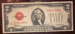 1928d Red Seal Two Dollar Bill Price Reduced