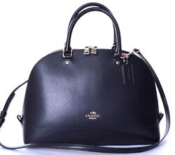 COACH Sierra Dome Crossgrain Black Satchel Crossbody Purse 37218 EUC $89.00
