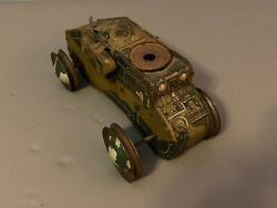 Vintage 1940and039s Marx Toys Tin Litho Wind Up 10 Tank
